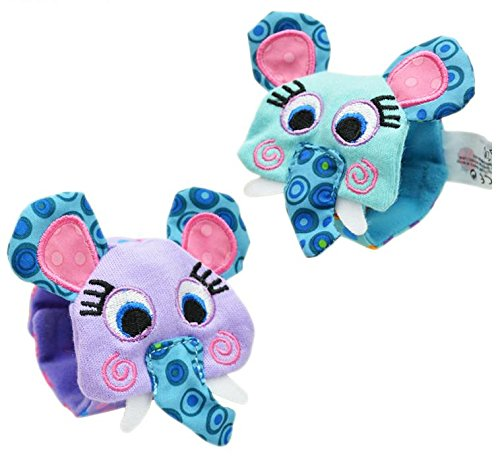 Foot Finders - New A Pair Baby Infant Toy Soft Handbells Hand Wrist Strap Rattles/Animal Socks Foot Finders Stuffed Toys Christmas Gift - Baby Foot Finders (Elephant wrist strap) (Christmas National Eve Harbor)