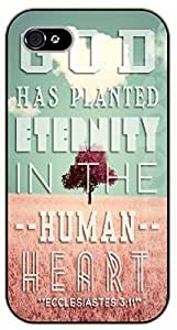iPhone 5C Bible Verse - Tree. God has planted eternity in the huma heart. Ecclesiastes 3:11 - black plastic case / Verses, Inspirational and Motivational hjbrhga1544