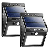 Cheap Solar Lights Outdoor, Habor Bright 20 LED Solar Lights Wireless Security Wall Light with Waterproof for Driveway, Garden, Security, Patio, Deck, Yard-2 Pack