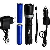 Lampe de poche LED- Oramics- Avec piles et chargeur