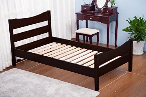 espresso bed frame - 7