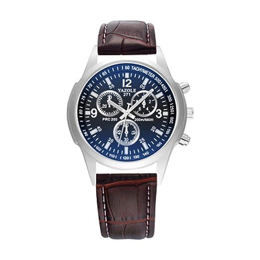 Yazole 271 famoso reloj de cuarzo de negocios reloj de pulsera Masculino hombres reloj: Amazon.es: Relojes
