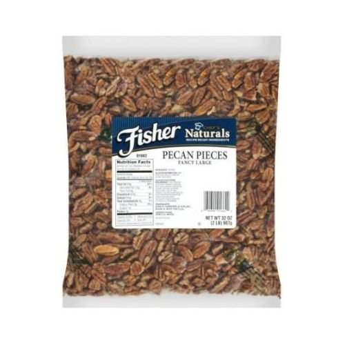 Fisher Chefs Naturals Fancy Large Pecan Piece, 2 Pound -- 3 per case. by John B.Sanfilippo and Son
