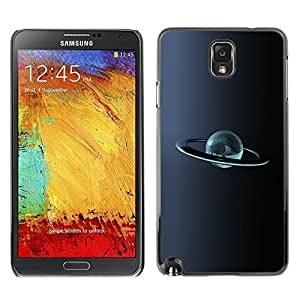 GagaDesign Phone Accessories: Hard Case Cover for Samsung Galaxy Note 3 - Chrome Planet