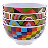 French Bull - Melamine Mini Bowl Set 300ml - For Desserts, Appetizers or Dips - Multicolor, Set of 6