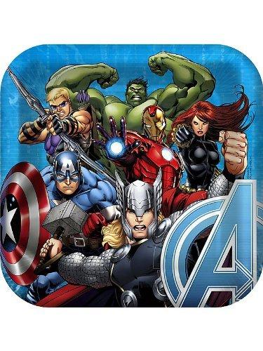 Hallmark Avengers Assemble New Birthday Party Lunch Dinner Plates (8 per pkg)]()