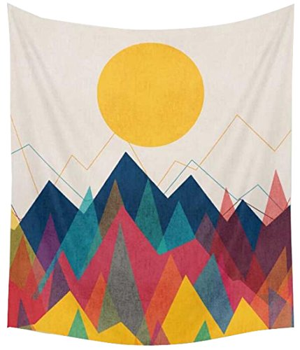 OULIU Sunset Forest Ocean and Mountains Wall Hanging