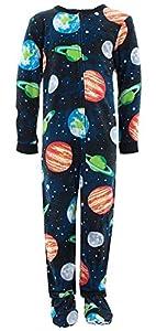 Komar Kids Big Boys' Soft Fleece Footed Pajamas