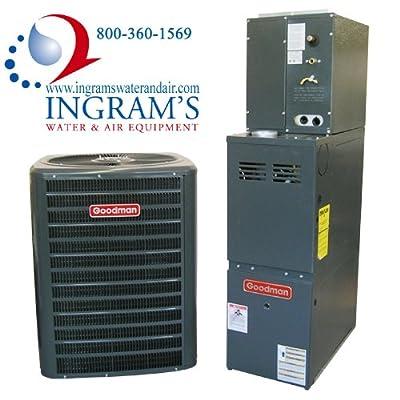 Goodman R410A 13 SEER Complete Split System AC & Gas 3.5 Ton GSX130421, CAPF3642C6, GMH81005CN