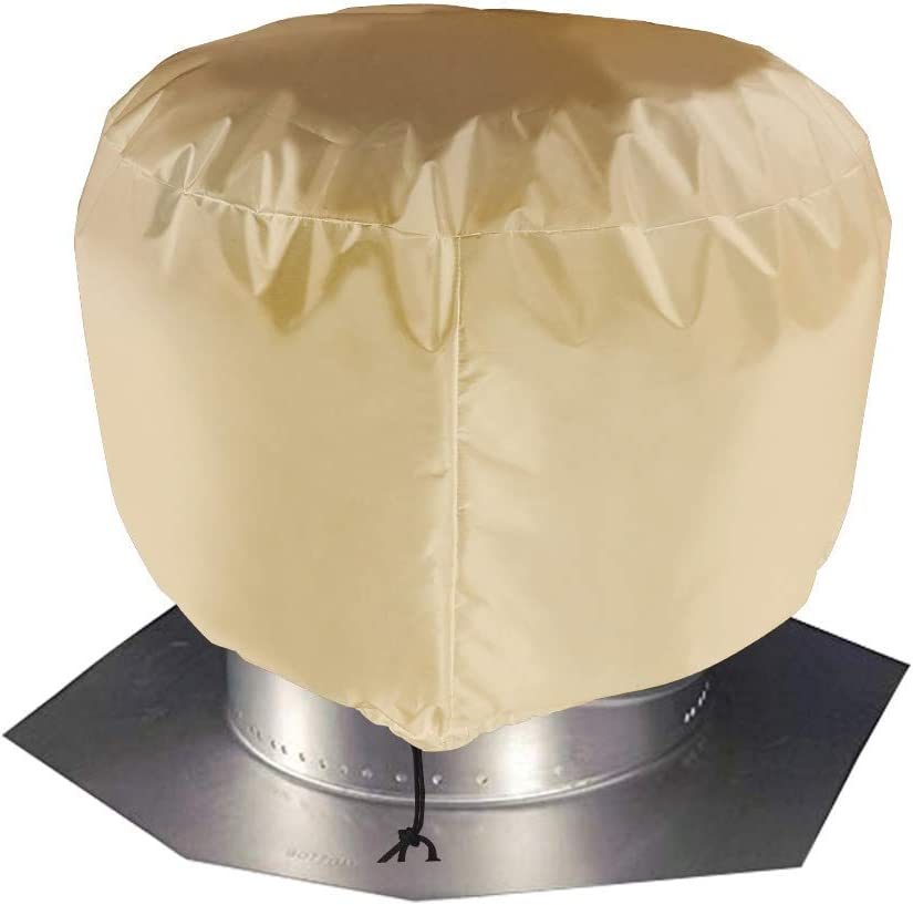 L: 20x20 Vent Cover,Turbine Vent Roof Ventilator Cover,Heavy Duty Water Resistant Oxford Roof Vent Dust Cover with Hem Drawstring