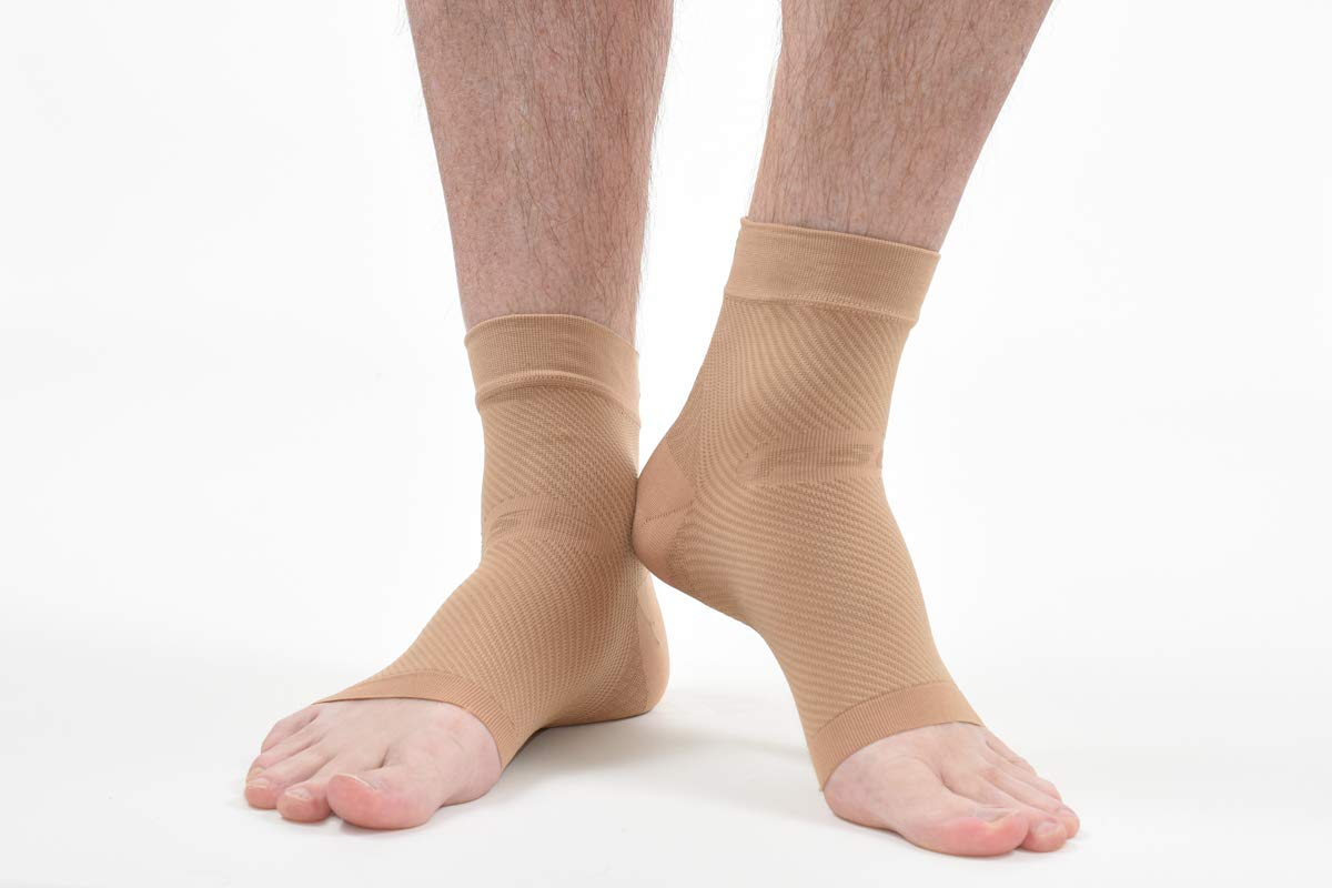 OS1st FS6 Performance Foot Sleeve (Two Sleeves) for Plantar Fasciitis Pain Relief, Heel Pain and Arch Support by OS1st