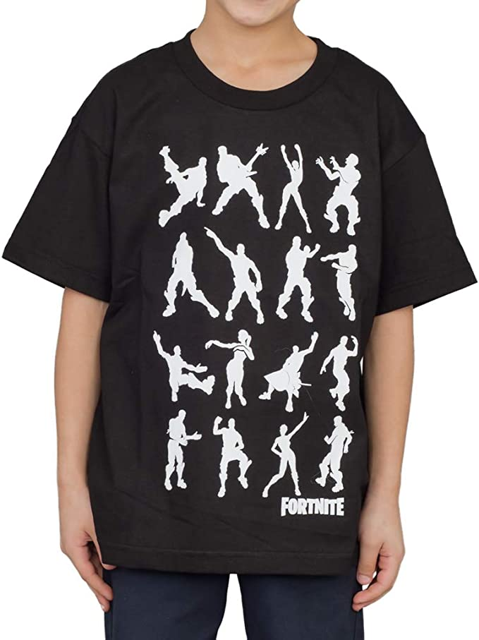 FORTNITE video GAME Dance MOVES Skull battle SKULLY TROOP New BOYS Youth T-Shirt