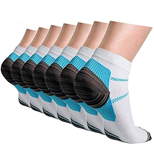 Compression Socks for Women and Men, Ankle Arch Support Plantar Fasciitis Socks 4/7 Pairs