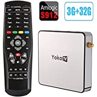 Mercu 2017 New Version 3GB/32GB KB2 Smart Android 6.0 TV Box Amlogic S912 Octa-core 64 Bit VP9 H.265 UHD 4K Mini PC 2.4G & 5G Wi-Fi 1000M LAN Airplay Miracast HD With Remote Controller