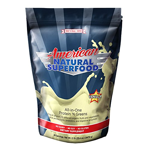 American Natural Superfood - Protein and Greens 2.1 lbs, 33.4 Oz, 28 Servings