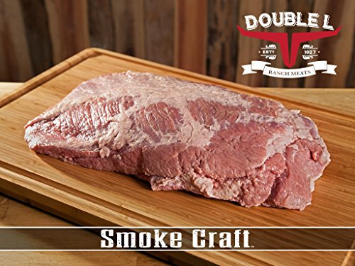 Raw ready to smoke beef brisket by Double L Ranch