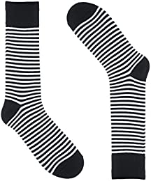 Low Price Striped Socks For Men Dress Sock Colorful Thin Black And White Color Cotton Size 8 13 One Pair