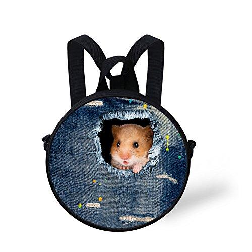 Round Print Shoulder for Bag Women FancyPrint Animals Bag Dfgca4913i Round wPW5Yx