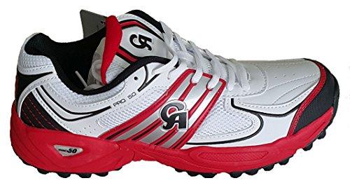 Sintético Para Zapatillas Rojo De Hombre Críquet Ca q8UtgR