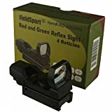 Field Sport Heavy Duty CQB RED Dot Reflex Sight Sighting System Red and Green Illumination with 4 Reticle