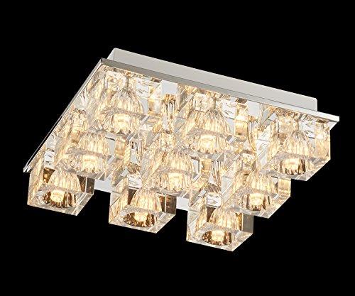 Lightess Chandelier Lighting LED Crystal Ceiling Light Fixtures Modern Flush Mount with 9 Lights in Square Shape by LIGHTESS (Image #4)