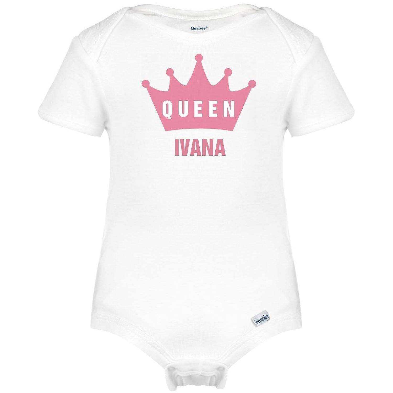 Org cute baby queen ivana onesie infant gerber onesies clothing