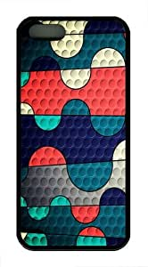 Colored Squiggles Custom iPhone 5s/5 Case Cover TPU Black by mcsharks