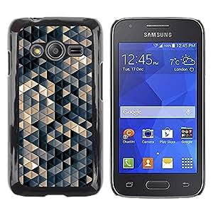 TopCaseStore / la caja del caucho duro de la cubierta de protección de la piel - Pastel Beige 3D Pattern - Samsung Galaxy Ace 4 G313 SM-G313F