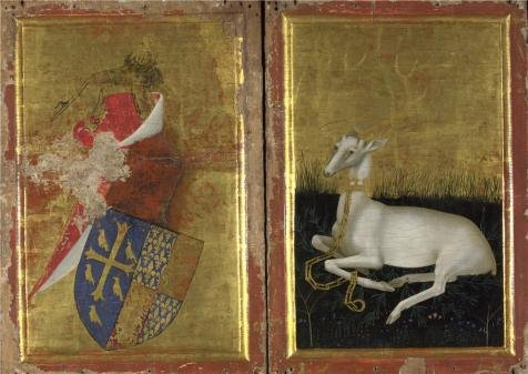 'English Or French - The Wilton Diptych,about 1395-9' Oil Painting, 10x14 Inch / 25x36 Cm ,printed On High Quality Polyster Canvas ,this Beautiful Art Decorative Canvas Prints Is Perfectly Suitalbe For Laundry Room Decoration And Home Artwork And Gifts
