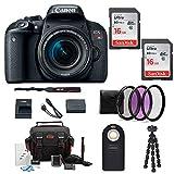 Canon EOS Rebel T7i DSLR Camera w/18-55mm Lens + Filter kit & 32GB Accessory Bundle