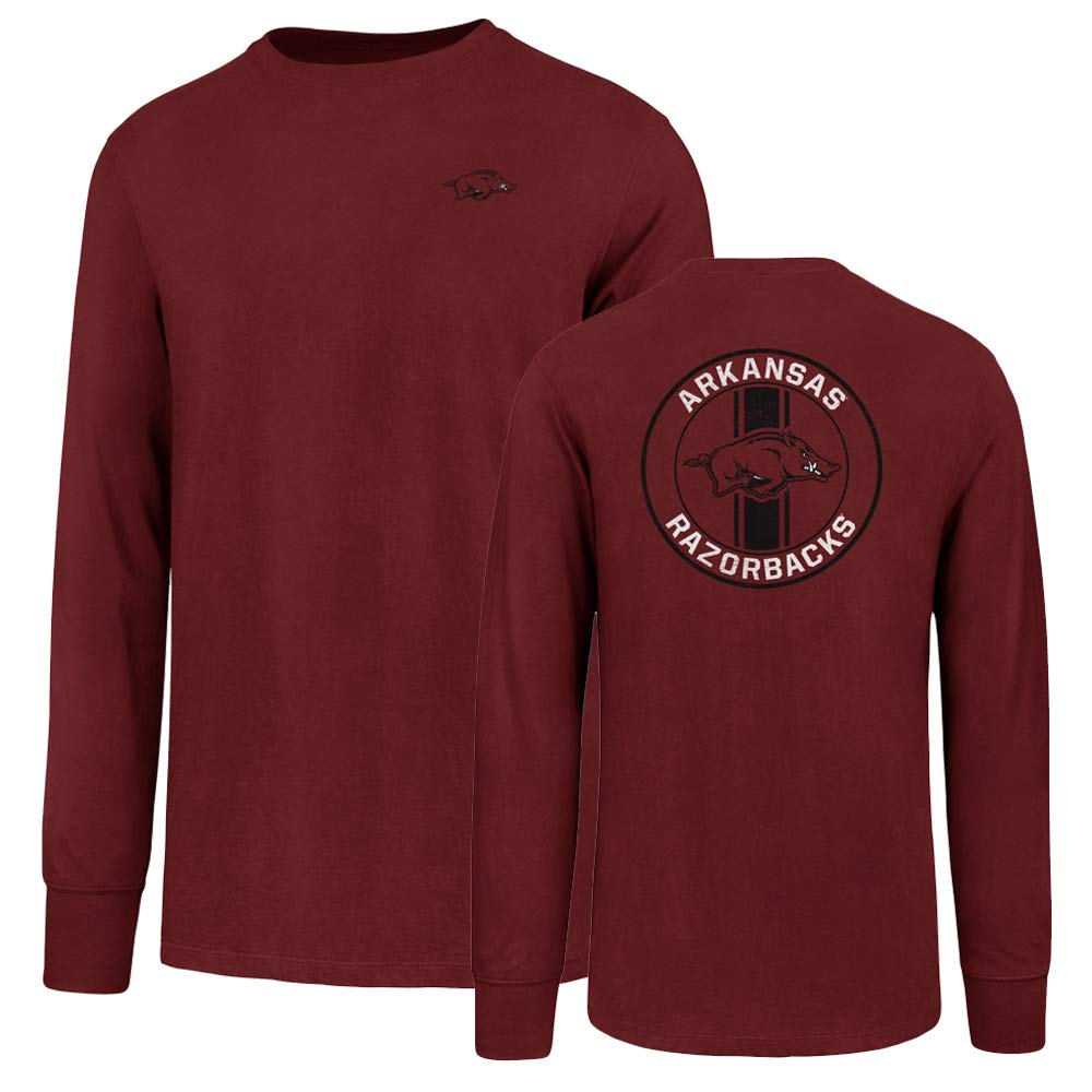 NCAA Alabama Tide Men's Ots Rival Long sleeve Lccb Distressed Tee, Medium, Crimson