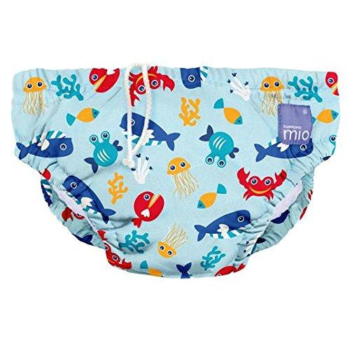 Bambino Mio Medium Swim Nappy Deep Sea Blue 6-12 Mths