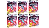 Kids Dental Floss with Fluoride 30 Count Bag 6 Packs Fruit Smoothie Swirl Flavor BPA Free