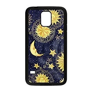 Sun Moon Space Nebula High Qulity Customized Cell Phone Case for SamSung Galaxy S5 I9600, Sun Moon Space Nebula Galaxy S5 I9600 Cover Case