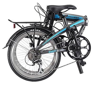 """Schwinn Adapt 2 8 Speed Folding Bike Matte Charcoal 20"""" Wheel, one size frame"""