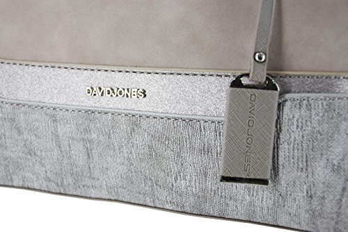 Bugatti Bowling Jones Glitter Handbag Bag Polochon Nubuck Elegant Stripe Beige Bag Ladies Grey Bag Women's Satchel David Handle City Faux Beige Grey Leather Multicolor Rigid Duffle Shoulder Top xqXdwEE