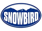 OVAL SNOWBIRD Mountain BG Sticker (snow ski resort)