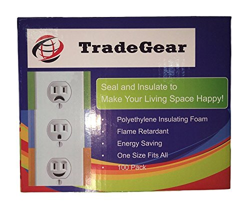 TradeGear Wall Plate Insulation Gasket 100 Pack, Wall for sale  Delivered anywhere in Canada