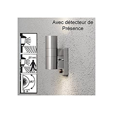 Aplique de pared de exterior con detector de movimiento Osiris: Amazon.es: Iluminación