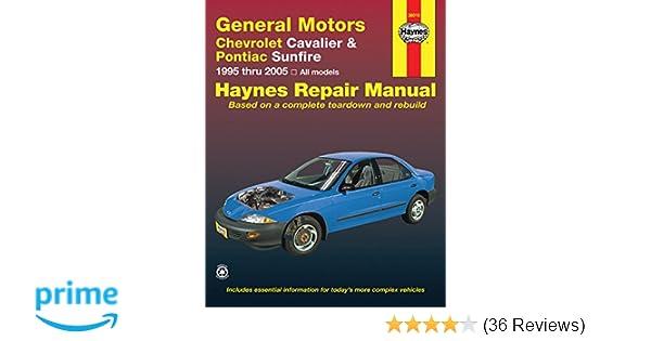 Chevrolet cavalier pontiac sunfire 1995 2005 haynes repair chevrolet cavalier pontiac sunfire 1995 2005 haynes repair manual haynes 9781563928147 amazon books fandeluxe Gallery