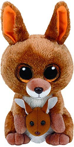 Image Unavailable. Image not available for. Color  TY Beanie Boos KIPPER - brown  kangaroo ... 61f199bc84b3