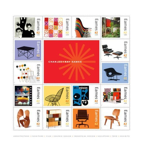 Cent Stamp Sheet (Charles and Ray Eames Collectible Sheet of Sixteen 42 Cent Stamps)