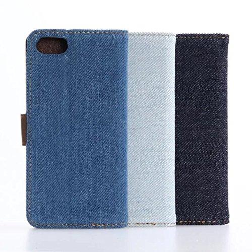 inShang iPhone 7 Funda Soporte y Carcasa para Apple iPhone7 4.7 inch,funda con suporte funzione, con construir-en cartera , Wallet design with card slot Cowboy white