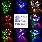Baby Night Lights, Moon Star Projector - 4 LED