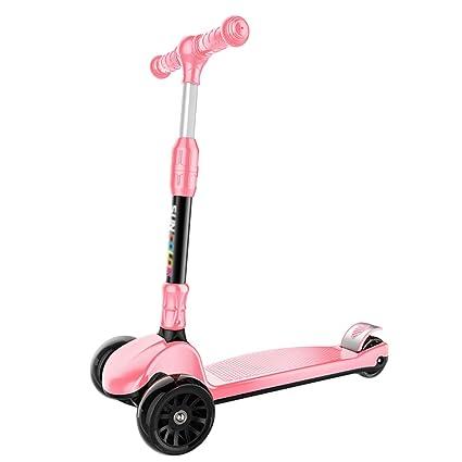 Patinete- Kids Kick Scooter Plegable, Rosa Scooter Ajustable ...