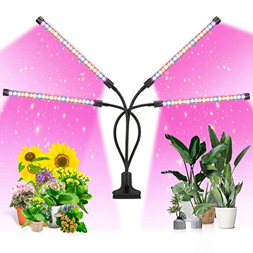 ANKACE LED Growth Light, Timing, 5 Dimmable Levels, Plant Grow Light for Indoor Plant with Full Spectrum & Red Blue…