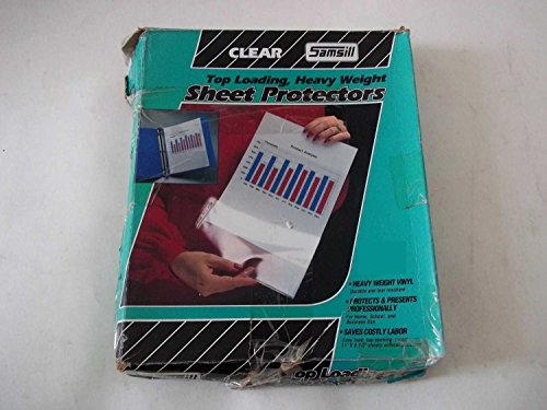 Samsill 41285 Clear Insert Sheet Protectors Top Loading Heavy Weight Vinyl 11