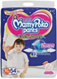 MamyPoko Pants Extra Absorb Diaper - Extra Large Size, Pack of 54 Diapers (XL-54)