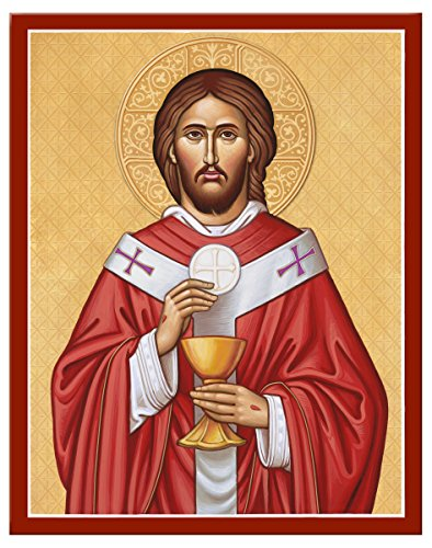 Monastery Icons Jesus Christ the High Priest Mounted Plaque Icon Reproduction (11