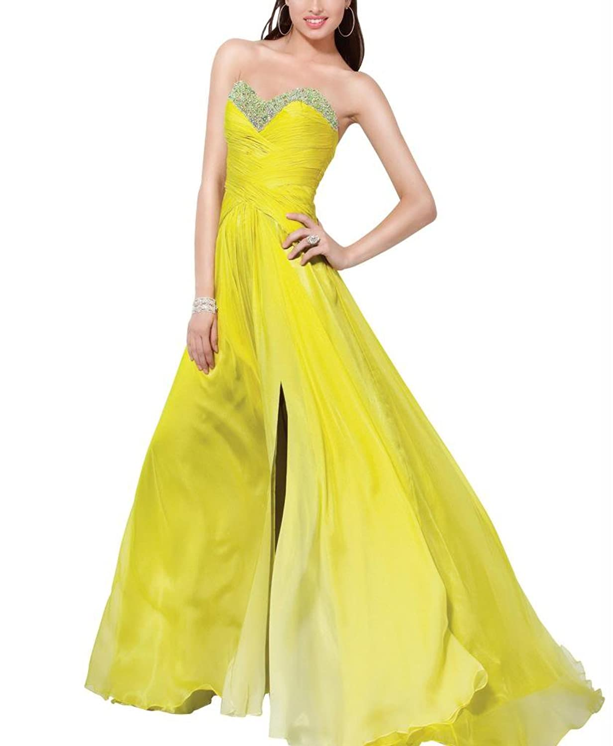 GEORGE BRIDE Sheath/ Column Strapless Floor Length Evening Dress With Beaded Appliques